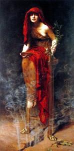 Priestess of Delphi (1891) by John Collier
