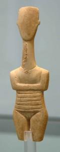 Cycladic female figurine from 3rd millenary B.C.