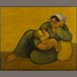 """Mother and Child"" by Syrian artist Louay Kayyali"