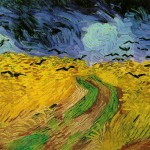 crows in a wheat field (for Vincent)