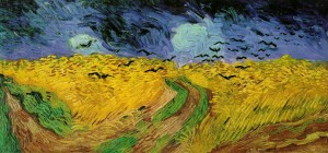 """Wheat Field with Crows"" 1890 Vincent van Gogh"