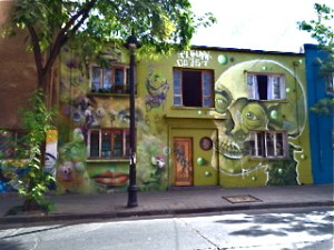 Mural in Santiago by Willa Childress