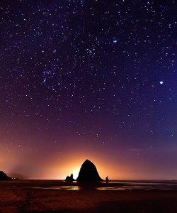 Stars over Cannon Beach photo by Chris Lazzery