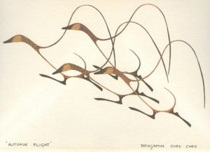 """Autumn Flight"" by Benjamin Chee Chee"